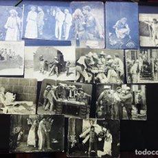 Cine: 14 FOTOCROMOS, LIBERTAD, CINE MUDO, MARIA WALCAMP Y POLO, CHOCOLATES PI. Lote 266918114