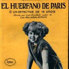 Cine: EL HUÉRFANO DE PARÍS O UN DETECTIVA DE 15 AÑOS (GAUMONT, C. 1925). Lote 267809559