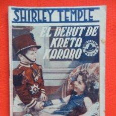 Cine: EL DEBUT DE KRETA KARABO, NOVELA BIBLIOTECA FILMS, SHIRLEY TEMPLE, 36 PÁGINAS. Lote 276385493