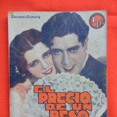Cine: EL PRECIO DE UN BESO, NOVELA EDIC. BISTAGNE, JOSE MOJICA MONA MARIS ANTONIO MORENO. Lote 276550838