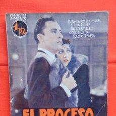 Cine: EL PROCESO DE MARY DUGAN, NOVELA EDIC. BISTAGNE,MARIA LADRON DE GUEVARA ELVIRA MORLA RAFAEL RIVELLES. Lote 276551933
