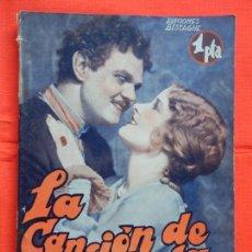 Cine: LA CANCION DE LA ESTEPA, NOVELA EDIC. BISTAGNE, LAWRENCE TIBBETT CATHERINE DALE. Lote 276553013