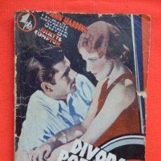 Cine: DIVORCIO POR AMOR, NOVELA EDIC. BISTAGNE, ANN HARDING LAWRENCE OLIVIER. Lote 276555268