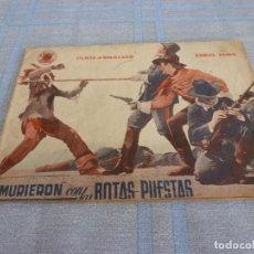 Cine: (BTA) MURIERON CON LAS BOTAS PUESTAS-ORIGINAL DE DECADA DE LOS 40-EDICIONES BISTAGNE-ERROL FLYNN. Lote 277761443