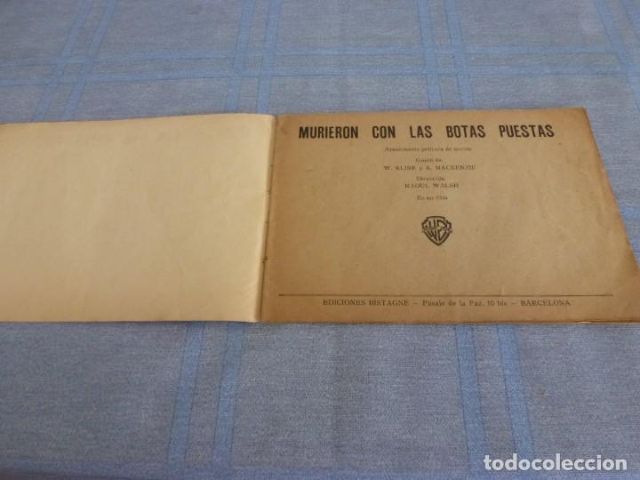 Cine: (BTA) MURIERON CON LAS BOTAS PUESTAS-ORIGINAL DE DECADA DE LOS 40-EDICIONES BISTAGNE-ERROL FLYNN - Foto 2 - 277761443
