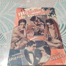 Cine: MELODIA DE ARRABAL IMPERIO ARGENTINA CARLOS GARDEL NOVELA CON FOTOS BIBLIOTECA FILMS. Lote 277854518