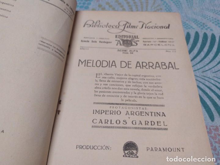 Cine: MELODIA DE ARRABAL IMPERIO ARGENTINA CARLOS GARDEL NOVELA CON FOTOS BIBLIOTECA FILMS - Foto 3 - 277854518