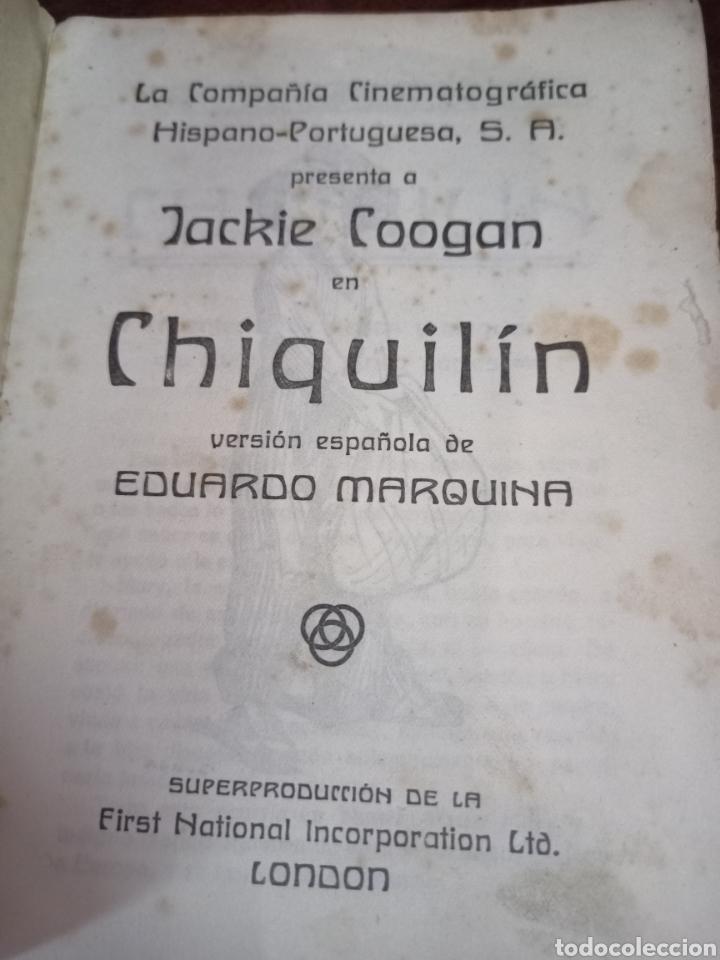 Cine: PROGRAMA ARGUMENTO. PELÍCULA DE CINE MUDO. CHIQUILIN. JACKIE COOGAN. ILUSTRADO POR LUIS DUBON. - Foto 3 - 278407658
