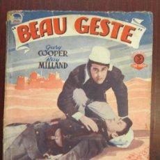 Cinema: BEAU GESTE - NOVELA ORIGINAL BISTAGNE - GARY COOPER ROBERT PRESTON RAY MILLAND FOREIGN LEGION. Lote 284166558