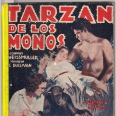 Cine: PO97D TARZAN DE LOS MONOS WEISSMULLER O'SULLIVAN NOVELA CON FOTOS SEMANAL CINEMATOGRAFICA. Lote 285120998