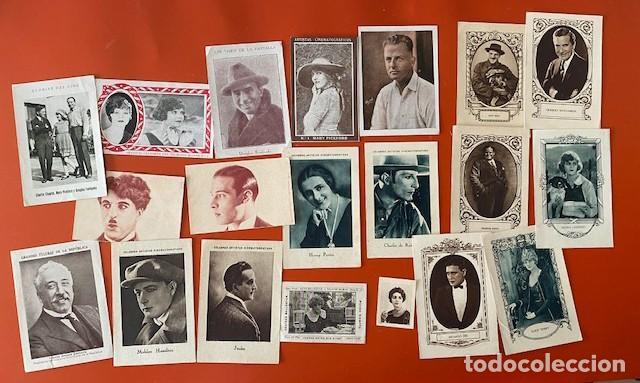 LOTE 20 CROMOS CINE AÑOS 20. VARIAS MARCAS DE CHOCOLATE (Cine - Foto-Films y Cine-Novelas)