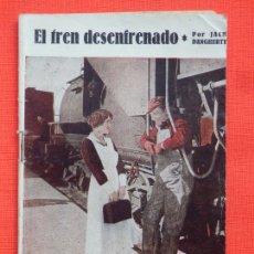 Cine: EL TREN DESENFRENADO, BIBLIOTECA TREBOL, NOVELILLA, JACK DANGHERTY, 32 PÁG.. Lote 286820353