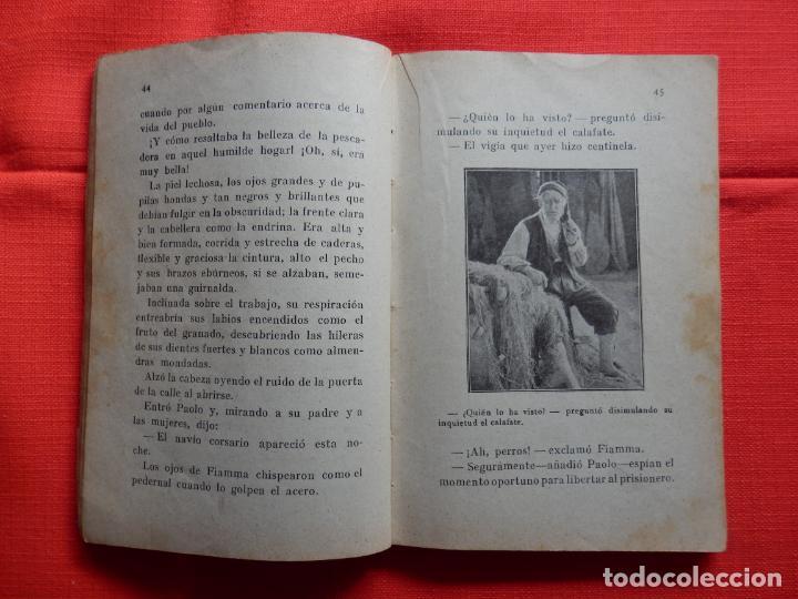 Cine: El Corsario, La novela semanal cinematofráfica, Amleto Novelli, novelilla doble, 130 páginas. - Foto 2 - 287142568