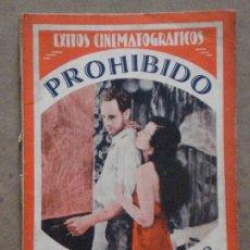Cine: ABH85 PROHIBIDO CONCHITA MONTENEGRO NOVELA CON FOTOS EDICIONES BISTAGNE. Lote 287313133