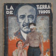 Cine: ABH93 LA TIERRA DE TODOS GRETA GARBO LIONEL BARRYMORE NOVELA CON FOTOS EDICIONES BISTAGNE. Lote 287323428