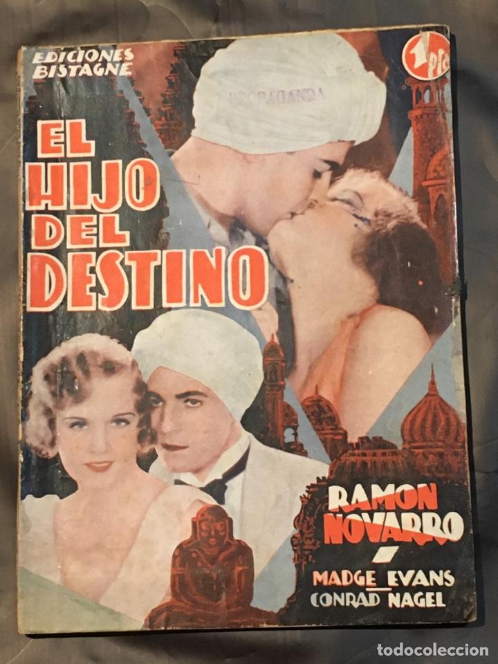ABI02 EL HIJO DEL DESTINO RAMON NOVARRO MADGE EVANS NOVELA CON FOTOS EDICIONES BISTAGNE (Cine - Foto-Films y Cine-Novelas)