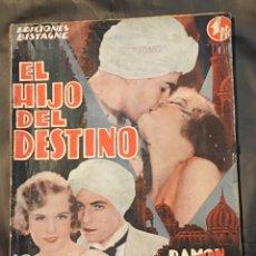 Cine: ABI02 EL HIJO DEL DESTINO RAMON NOVARRO MADGE EVANS NOVELA CON FOTOS EDICIONES BISTAGNE. Lote 287330013