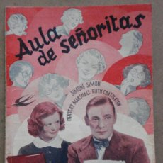 Cine: ABI04 AULA DE SEÑORITAS SIMONE SIMON HERBERT MARSHALL NOVELA CON FOTOS EDICIONES BISTAGNE. Lote 287330113