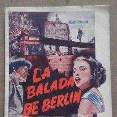 Cine: ABI25 LA BALADA DE BERLIN GERT FROBE TATJANA SAIS NOVELA CON FOTOS EDITORIAL ALAS. Lote 287338888