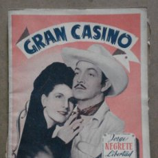 Cine: ABI26 GRAN CASINO JORGE NEGRETE LIBERTAD LAMARQUE LUIS BUÑUEL NOVELA CON FOTOS EDITORIAL ALAS. Lote 287339603