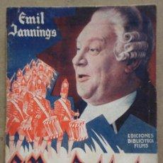 Cine: ABI35 EL REY SOLDADO EMIL JENNINGS NOVELA CON FOTOS EDITORIAL ALAS. Lote 287344408