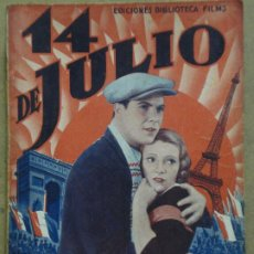 Cine: ABI36 14 DE JULIO RENE CLAIR ANNABELLA GEORGE RIGAUD NOVELA FOTOS EDITORIAL ALAS. Lote 287344593