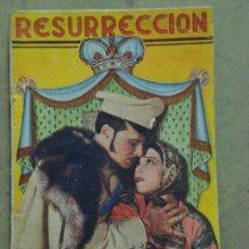 Cine: ABI37 RESURRECCION DOLORES DEL RIO ROD LA ROQUE NOVELA CON FOTOS EDICIONES BIBLIOTECA FILMS. Lote 287345378