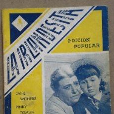 Cine: ABI40 LA IRLANDESITA JANE WITHERS PINKY TOMLIN RITA HAYWORTH NOVELA FOTOS EDITORIAL BISTAGNE. Lote 287346693