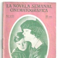 Cine: ABI54 LA EXTRAÑA SEÑORA BELLEW GLORIA SWANSON NOVELA CON FOTOS NOVELA SEMANAL CINEMATOGRAFICA. Lote 287352383