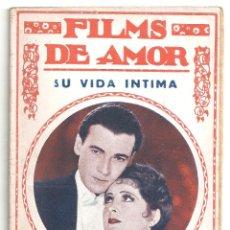 Cine: ABI59 SU VIDA INTIMA BILLIE DOVE THELMA TODD NOVELA CON FOTOS BIBLIOTECA FILMS - FILMS DE AMOR. Lote 287354963
