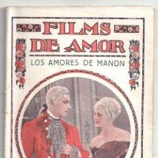 Cine: ABI60 LOS AMORES DE MANON DOLORES COSTELLO JOHN BARRYMORE NOVELA FOTOS BIBLIOTECA FILMS FILMS AMOR. Lote 287355443