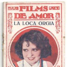 Cine: ABI61 LA LOCA ORGIA CLARA BOW FREDRIC MARCH NOVELA CON FOTOS BIBLIOTECA FILMS - FILMS DE AMOR. Lote 287355648