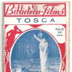 Cine: ABI62 TOSCA FRANCESCA BERTINI NOVELA CON FOTOS BIBLIOTECA FILMS. Lote 287356723