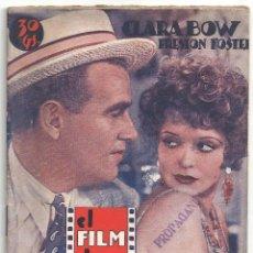 Cine: ABI66 HOOPLA CLARA BOW PRESTON FOSTER NOVELA CON FOTOS EL FILM DE HOY. Lote 287357488