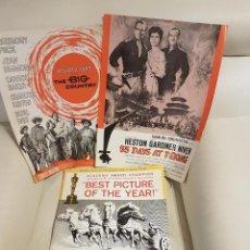 Cine: LOTE DE 8 PRESSBOOKS ORIGINALES PELÍCULAS CHARLTON HESTON-BEN-HUR-LOS 1O MANDAMIENTOS-AEROPUERTO 75. Lote 287397018