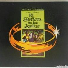 Cine: EL SEÑOR DE LOS ANILLOS LIBRO DE LA PELÍCULA J. R. R. TOLKIEN EN DIBUJOS ANIMADOS. Lote 287746333