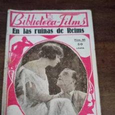 Cine: EN LAS RUINAS DE REIMS. BIBLIOTECA-FILMS. Nº40. BARCELONA, AÑOS 30. Lote 289439118