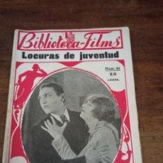 Cine: LOCURAS DE JUVENTUD. BIBLIOTECA-FILMS. Nº41. BARCELONA, AÑOS 30. Lote 289441208