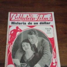 Cine: HISTORIA DE UN DÓLLAR. BIBLIOTECA-FILMS. Nº42. BARCELONA, AÑOS 30. Lote 289442273
