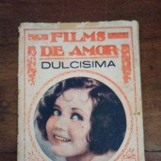 Cine: DULCISIMA. FILMS DE AMOR. Nº169. BARCELONA, AÑOS 30. Lote 289443073