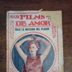 Cine: BAJO LA MASCARA DEL PLACER. GRETA GARBO. FILMS DE AMOR. Nº36. BARCELONA, AÑOS 30. Lote 289443358
