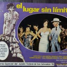 Cine: FOTO FILM PROMOCIONAL PELICULA EL LUGAR SIN LÍMITE 1978. Lote 295887688