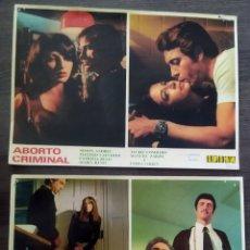 Cine: 2 FOTOS PROMOCIONALES DE LA PELÍCULA ABORTO CRIMINAL. 1973. Lote 295891228