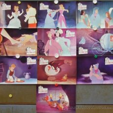 Cinema: T01134 LA CENICIENTA WALT DISNEY SET COMPLETO DE 10 FOTOCROMOS ORIGINAL. Lote 8008095