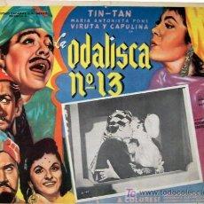 Cine: TIN TAN - MARIA ANTONIETA PONS - LA ODALISCA Nº 13 - VIRUTA Y CAPULINA - ORIGINAL MEXICAN LOBBY CARD. Lote 14467626