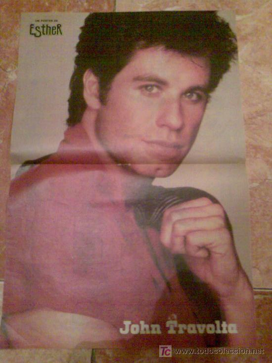 PÓSTER DE JOHN TRAVOLTA. REVISTA 'ESTHER'. AÑOS 80. (Cine - Fotos y Postales de Actores y Actrices)