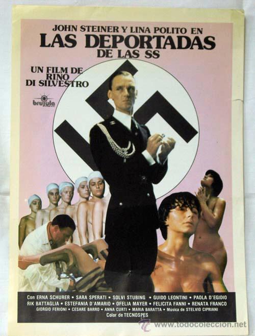 CARTEL PUBLICIDAD PELÍCULA LAS DEPORTADAS DE LAS SS DE BRÚJULA FILMS 1980 (Cine - Fotos, Fotocromos y Postales de Películas)