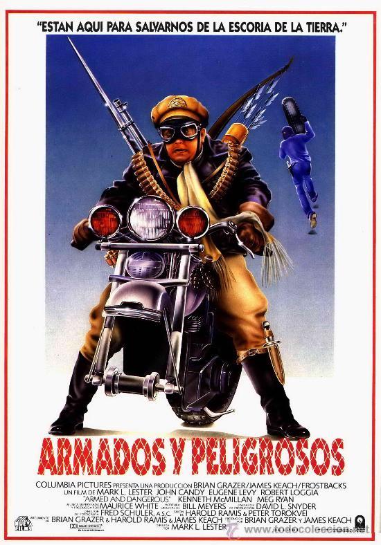 'ARMADOS Y PELIGROSOS', CON JOHN CANDY. FICHA TAMAÑO POSTAL. (Cine - Fotos, Fotocromos y Postales de Películas)