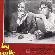 Cine: LA LEY DE LA CALLE, FOTOCROMO ORIGINAL DEL ESTRENO DE LA PELICULA, MATT DILLON Y MICKEY ROURKE. Lote 9074548