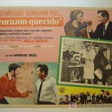 Cine: CORAZON QUERIDO - ORIGINAL LOBBY CARD MEXICANO - GLENN FORD, GERALDINE PAGE, ANGELA LANSBURY. Lote 9705110